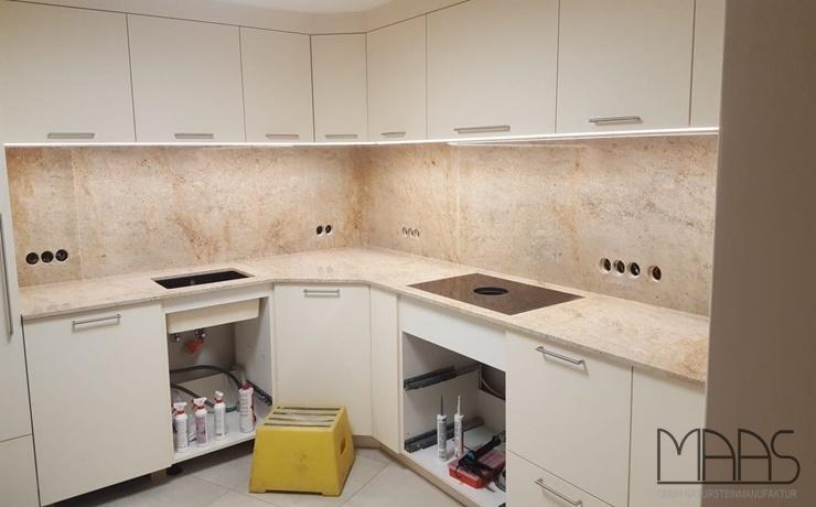 Bornheim Cielo White Granit Arbeitsplatten und Rückwände