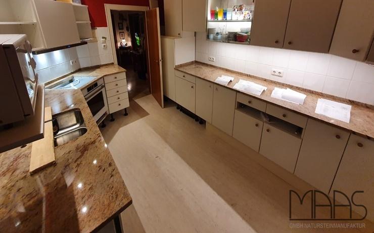 Bremen Ivory Brown Granit Arbeitsplatten und Wischleisten