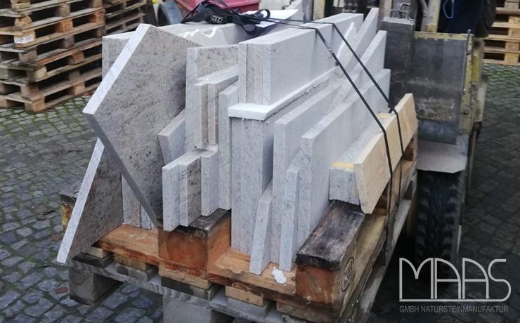 Haldensleben Cielo White Granit Treppen und Fliesen