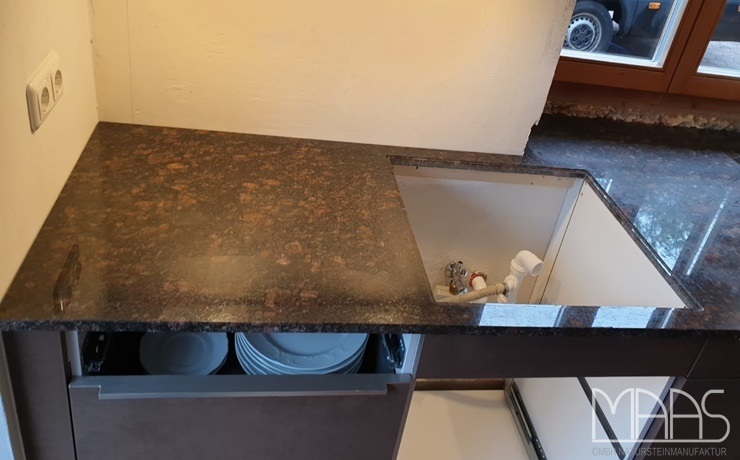 Miesbach Tan Brown Granit Arbeitsplatten