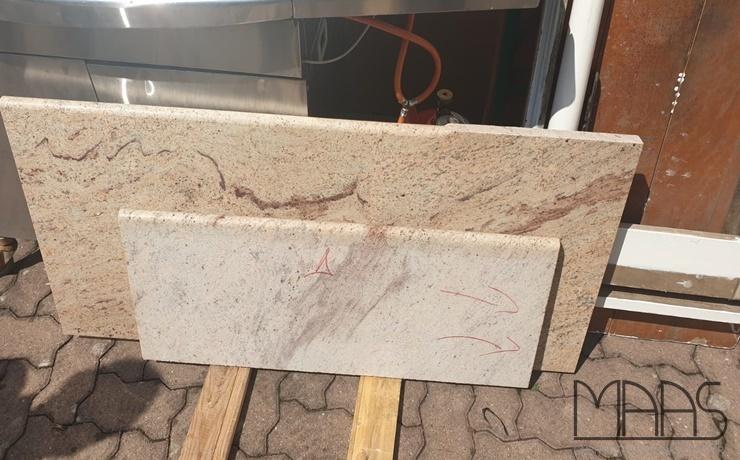 Stuttgart Ivory Brown Granit Arbeitsplatten und Wischleisten