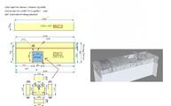 CAD Zeichnung des Marmor Waschtisches