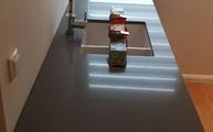 Montage der Silestone Arbeitsplatte aus dem Material Gris Expo