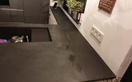 Calce Nero Laminam Arbeitsplatten in Düsseldorf montiert