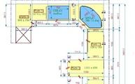 CAD Zeichnung der Granit Rosa Porrino M Arbeitsplatten