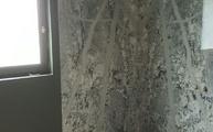 Moderne Dusche mit Granit Mont Bleu Platten