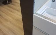 Die Abdeckplatten wurden mit einem Gehrungsschnitt verbunden