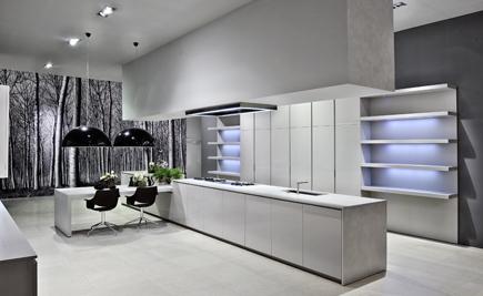 Die moderne Küche mit Santa Margherita Quarzstein